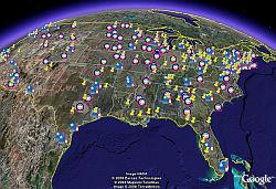 Superdelegados en Google Earth
