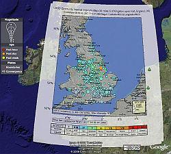 Terremotos en el Reino Unido - Vean los Datos en Google Earth