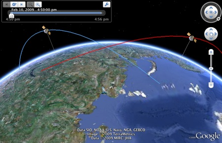 google earth live satellite. Space satellite crash in 3D in