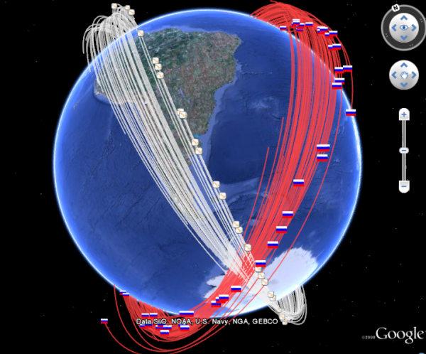 Satellite Collision Debris Tracking In Google Earth Google Earth - Live satellite images google earth