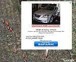 Safarri Classified Ads in Google Earth