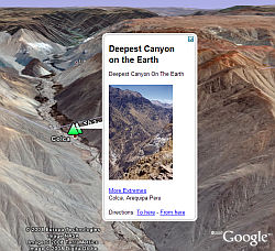 Extremes Series in Google Earth