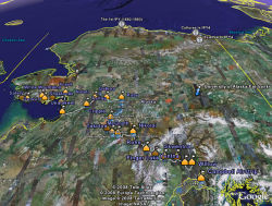 The Iditarod 2008 Dog Sled Race in Google Earth