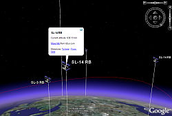 Orbit tracker in Google Earth