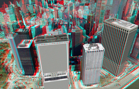 Stereo 3d views for google earth