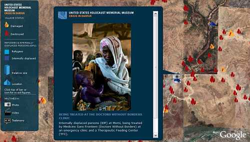 Crisis in Darfur on Google Earth
