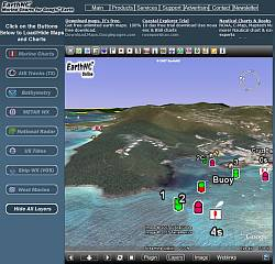 EarthNC Marine Charts in a browser using Google Earth