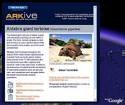 ARKive Especies en Peligro en Google Earth