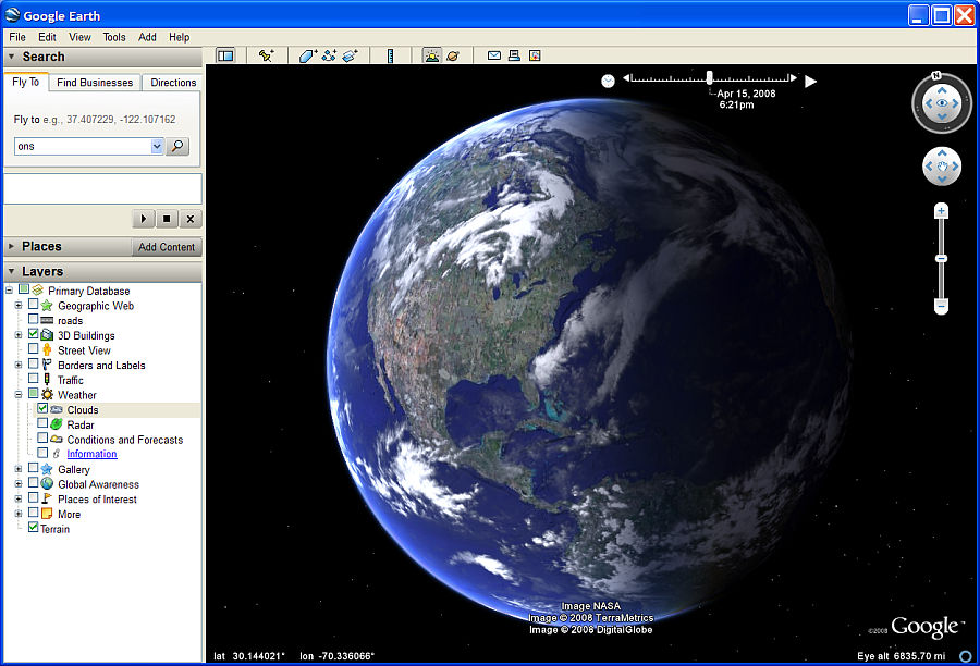 Google Earth download page after waiting