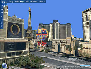 Virtual Earth 3D Las Vegas in Google Earth