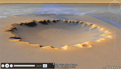 Mars Tours in Google Earth Plugin