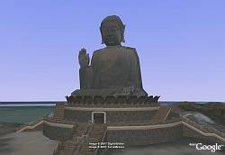 Big Buddha in Google Earth
