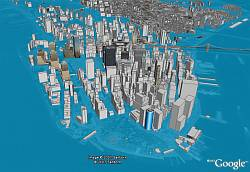 NYC Flooded 8 meters in Google Earth