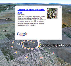 Google News Layer in Google Earth
