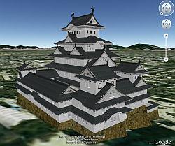 Himeji Castle in Google Earth