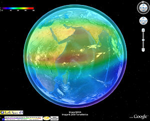 4D NASA Ionosphere in Google Earth