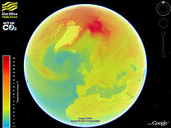 British Met Office Capa Cambio Climático en Google Earth