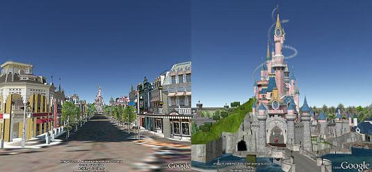 Disney Paris in 3D in Google Earth