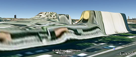 Funky 3D terrain in Google Earth