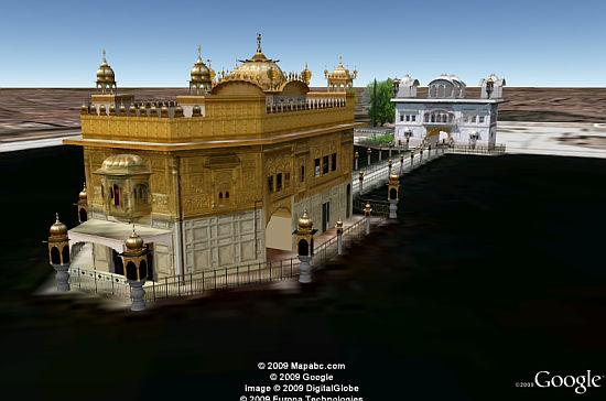 Templo Dorado en 3D en Google Earth