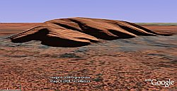 Ayers Rock in Google Earth
