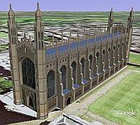 Kings College Chapel in Google Earth