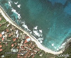 Surfing contest in Google Earth