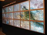 Giant Google Earth screen at Apple WWDC
