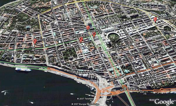 Road Maps And Local Search For Sweden In Google Earth And Maps - Sweden map search
