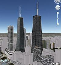 Dos Edificios Hancock 3D en Google Earth