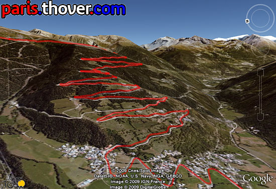 Le Tour de France in Google Earth