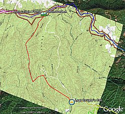 Lost Couple Hiking North Carolina in Google Earth