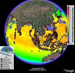 ReefBase Coral Reefs in Google Earth