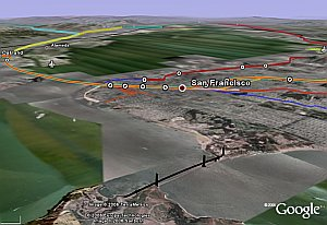 Transportation Layer in Google Earth