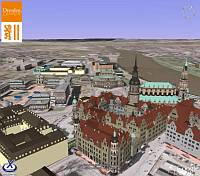 Dresden in 3D in Google Earth