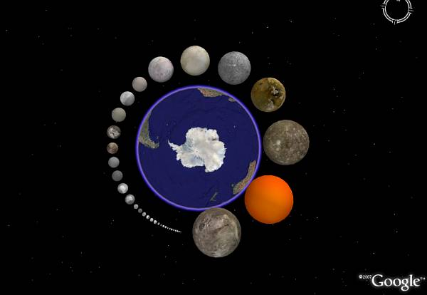 solar system moon phases with earth - photo #11