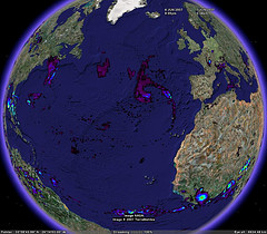 Real-time Rainfall in Google Earth