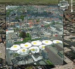 Art Eggcident by Henk Hofstra in Google Earth