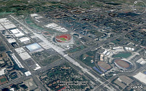 Beijing 2008 Olympics Venues in Google Earth
