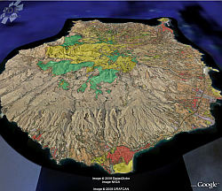 Canary Islands GIS in Google Earth