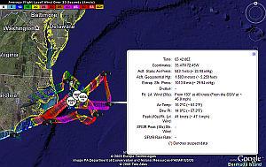 Live Hurricane Hunters in Google Earth