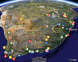 Capa de Turismo de Sudáfrica