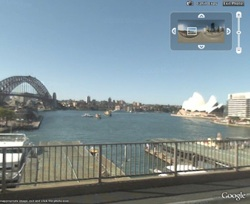 Sydney in Street View in Google Earth