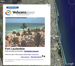 Webcams.travel webcams in Google Earth