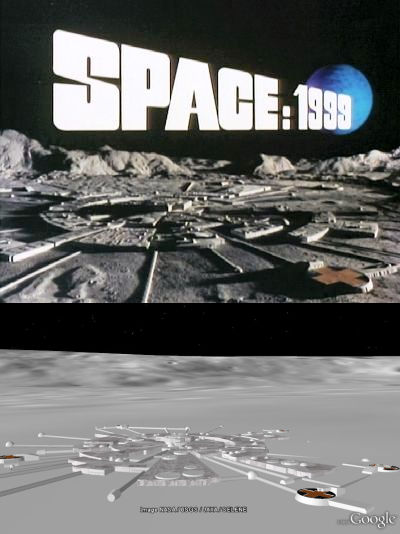 Space 1999  Moonbase Alpha in 3D  Google Earth Blog