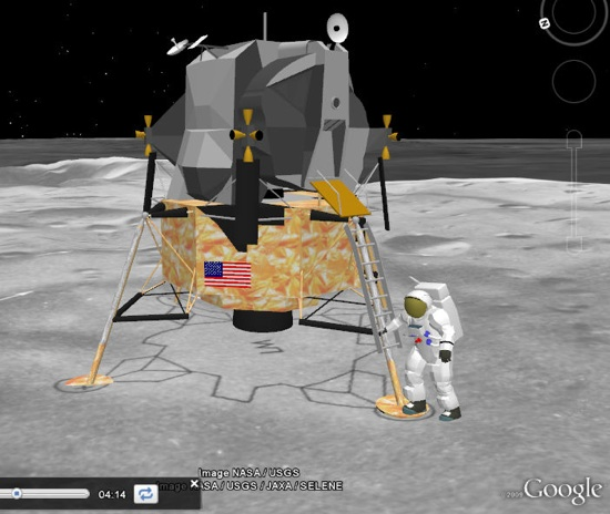 Luna 3D en Google Earth - Apollo 11