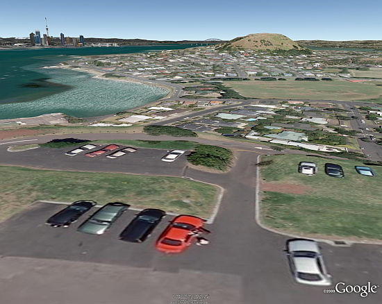Viste desde North Head de Auckland en Google Earth