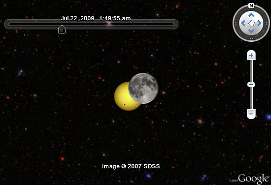 Simulación de Eclipse Solar en Google Earth
