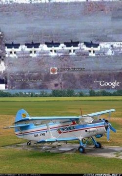 Antonov An-2 planes in Google Earth