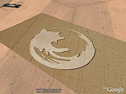 Firefox Crop Circle in Google Earth